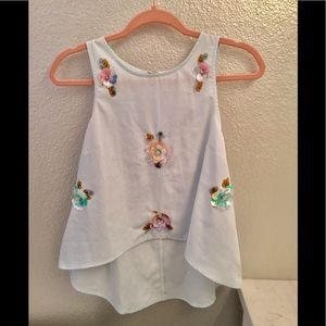LC Skylight Sequin Floral Blouse